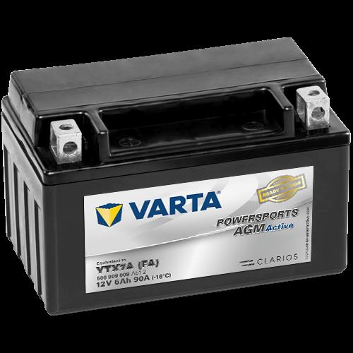 Varta Powersports AGM Active YTX7A-4  12V 6Ah 50A bal+ gyárilag üzembehelyezett motorakkumulátor (506 909 009 A51 2)