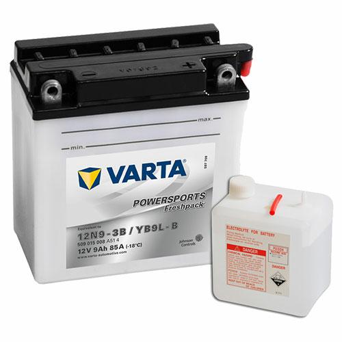 Varta Powersports Freshpack YB9L-B  12V 9Ah 85A jobb+ motorakkumulátor (509015008A514)