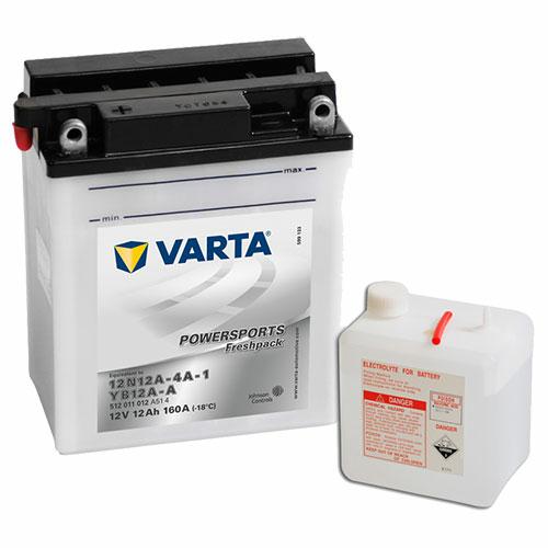 Varta Powersports Freshpack YB12A-A  12V 12Ah 160A bal+ motorakkumulátor (512011012A514)