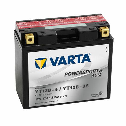 Varta Powersports AGM YT12B-BS  12V 12Ah 215A bal+ motorakkumulátor (512901019A514)