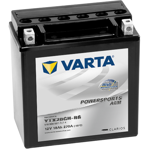 Varta Powersports AGM YTX20CH-BS  12V 18Ah 270A bal+ motorakkumulátor (518 908 027 A51 4)
