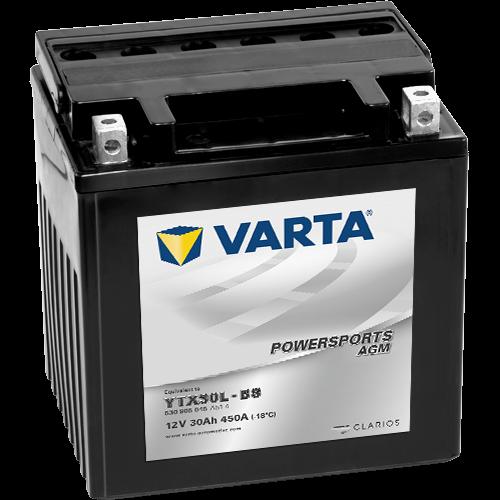 Varta Powersports AGM YTX30L-BS  12V 30Ah 450A jobb+ motorakkumulátor (530 905 045 A51 4)