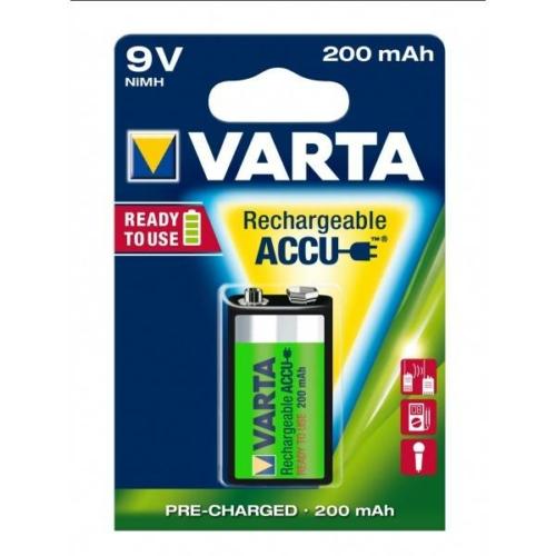 Varta Rechargeable Accu 9V 200 mAh tölthető elem