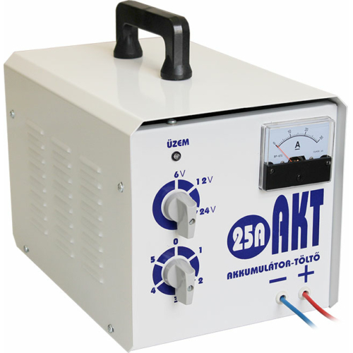 AKT25 6V-12V-24V 25A akkumulátor töltő