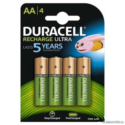 Duracell preCharged AA 2500 mAh tölthető elem