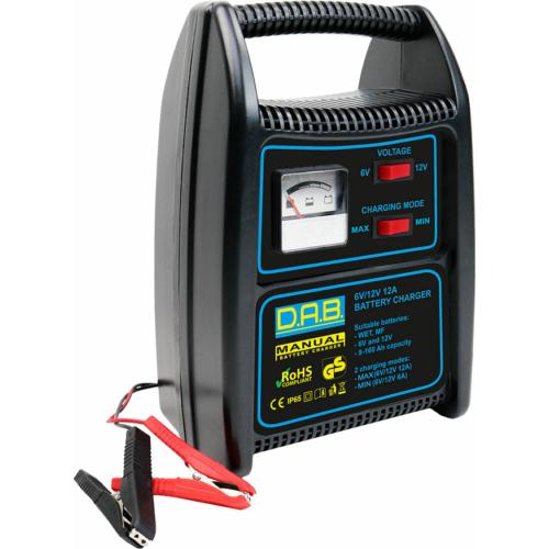 DAB 12A 6/12V manuális akkumulátortöltő