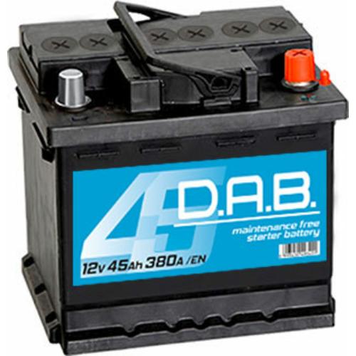 DAB 12V 45Ah 380A jobb+ akkumulátor