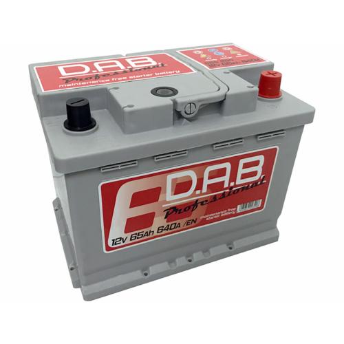 DAB Professional 12V 65Ah 640A jobb+ akkumulátor