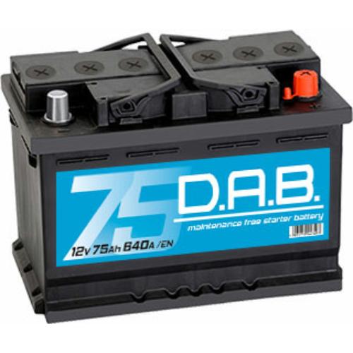 DAB 12V 75Ah 640A jobb+ akkumulátor