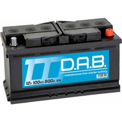 DAB 12V 100Ah 800A jobb+ akkumulátor