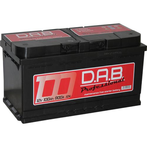 DAB Professional 12V 100Ah 900A jobb+ akkumulátor