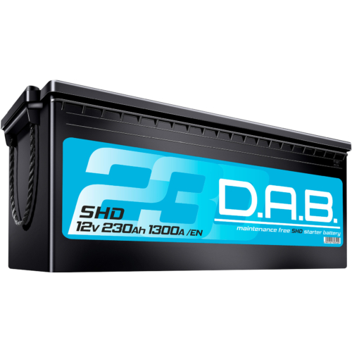 DAB SHD 12V 230Ah 1300A akkumulátor