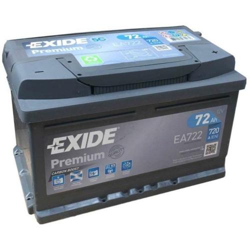 Exide Premium 72Ah 720A J+ akkumulátor
