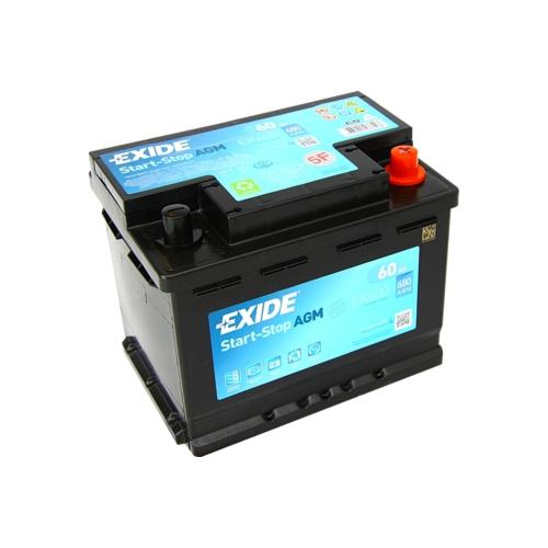 EXIDE AGM 12V 60Ah 680A jobb+ akkumulátor (EK600)