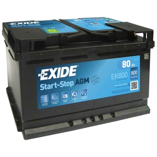EXIDE AGM 80 Ah 800A akkumulátor