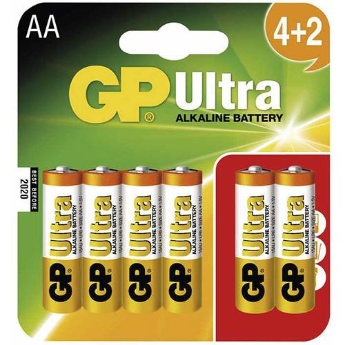 GP Ultra Alkaline LR6/AA elem