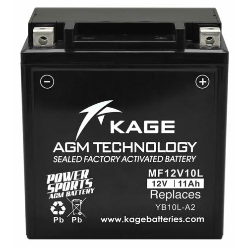KAGE Conventional YB10L-A2 12V 10Ah 140A motorakkumulátor