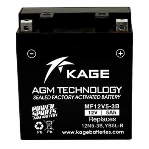 KAGE AGM KYB5L-BS 12V 5Ah 65A gondozásmentes motorakkumulátor