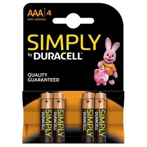 Duracell Simply LR03/AAA elem