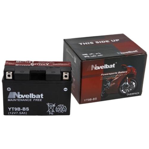 Novelbat AGM YT9B-BS 12V 7,5Ah 80A motorkerékpár akkumulátor