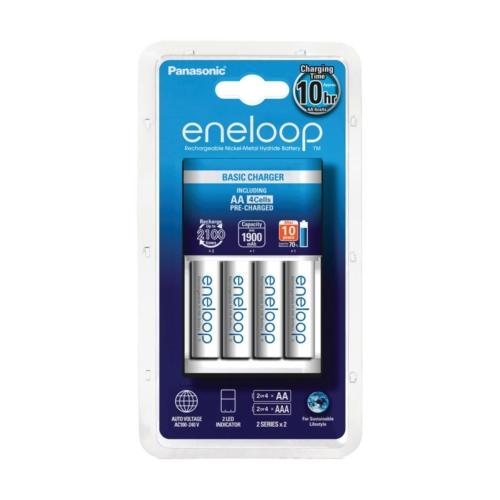 Panasonic Eneloop töltő + 4x1900 mAh