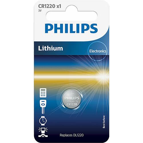 PhilipsCR 1220 3V lítium gombelem