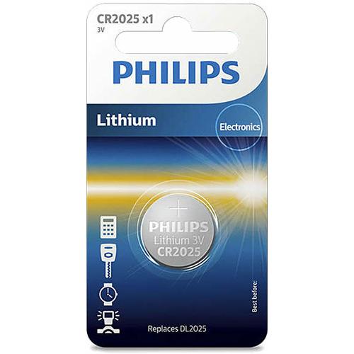 PhilipsCR 2025 3V lítium gombelem