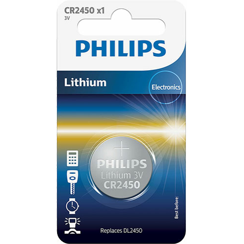 PhilipsCR 2450 3V lítium gombelem