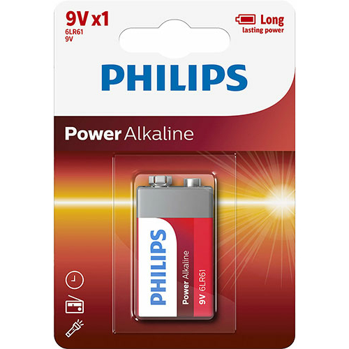 Philips Power Alkaline 6LR61/9V elem