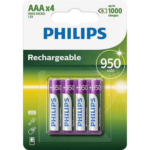 Philips Rechargeable AAA 950mAh tölthető elem