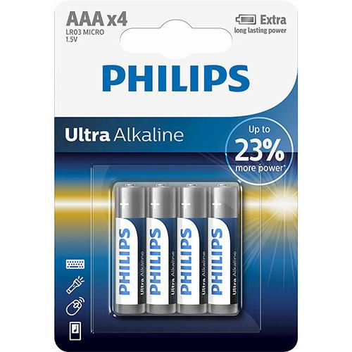 Philips Ultra Alkaline LR03/AAA elem