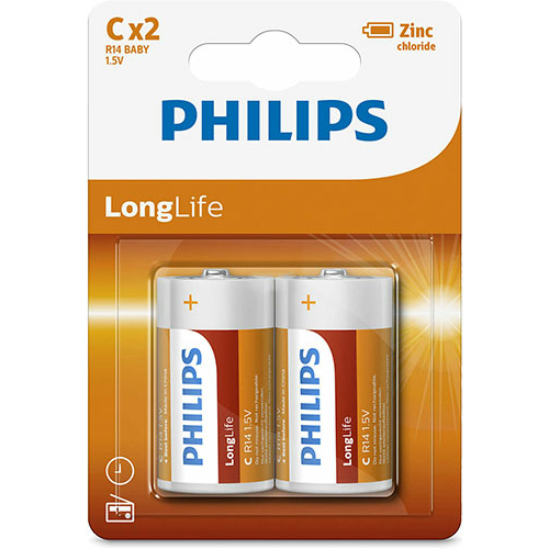 Philips Long Life R14/C elem