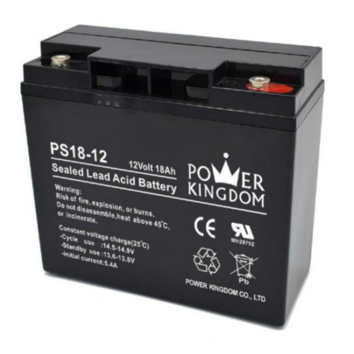 Power Kingdom 12V 18Ah VRLA akkumulátor