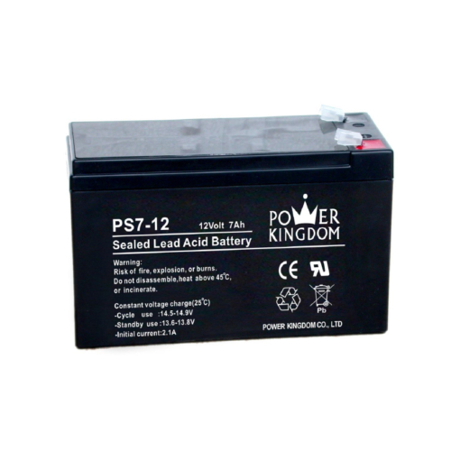 Power Kingdom 12V 7Ah VRLA akkumulátor