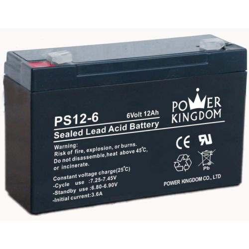 Power Kingdom 6V 12Ah VRLA akkumulátor