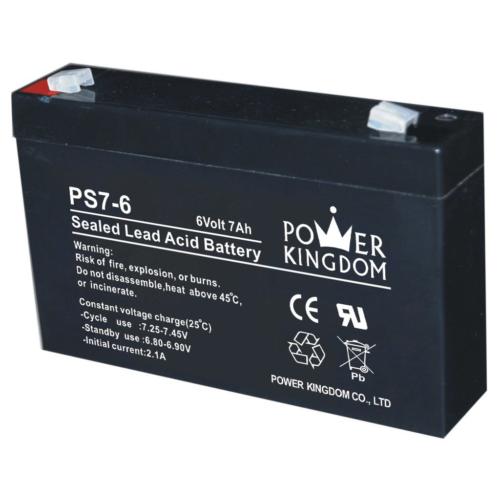Power Kingdom 6V 7Ah VRLA akkumulátor