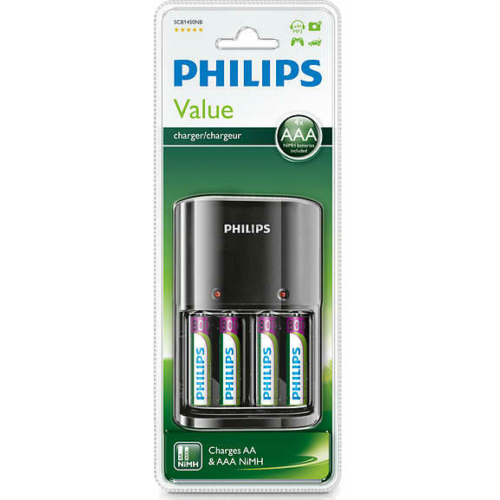 Philips Value Charger + 4x800 mAh