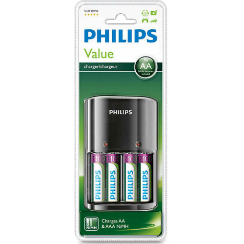 Philips Value Charger + 4x2100 mAh