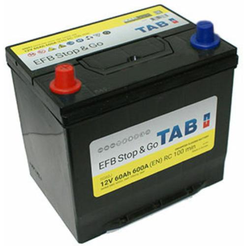 TAB Stop & Go EFB 60 Ah 600A ASIA B+