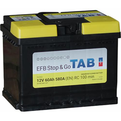 TAB Stop & Go EFB 60 Ah 580A