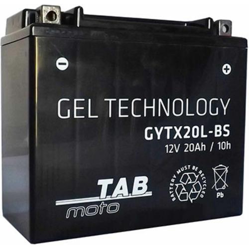 TAB Moto MF YTX20L-BS gyárilag üzembehelyezett motorakkumulátor