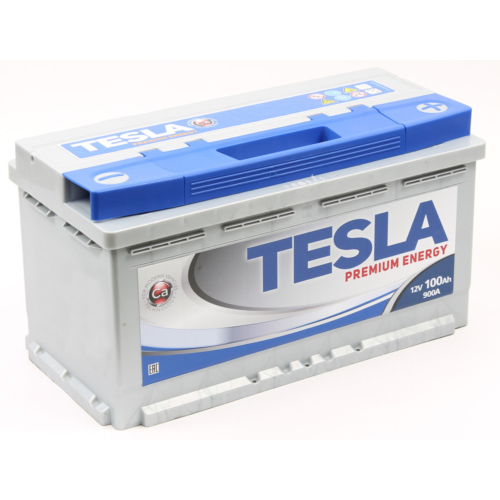 TESLA Premium 12V 100Ah 900A jobb+ akkumulátor