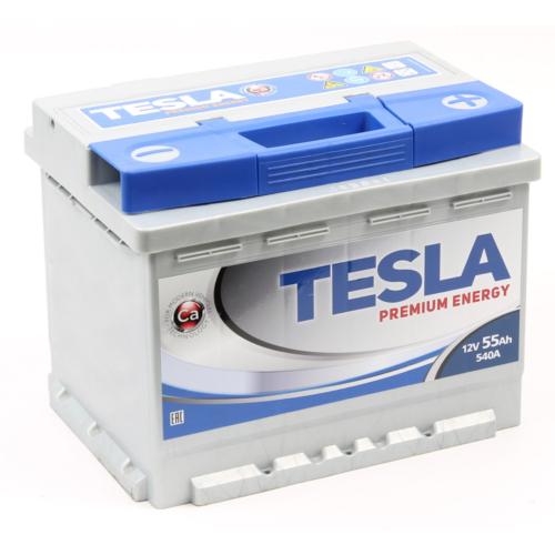 TESLA Premium 12V 55Ah 540A jobb+ akkumulátor