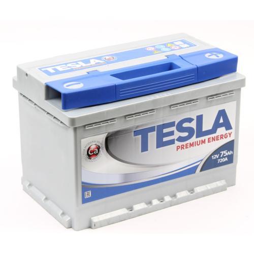 TESLA Premium 12V 75Ah 720A jobb+ akkumulátor