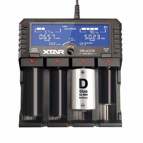 XTAR VP4 PLUS Dragon Premium LI-ION / NiMh univerzalis töltő