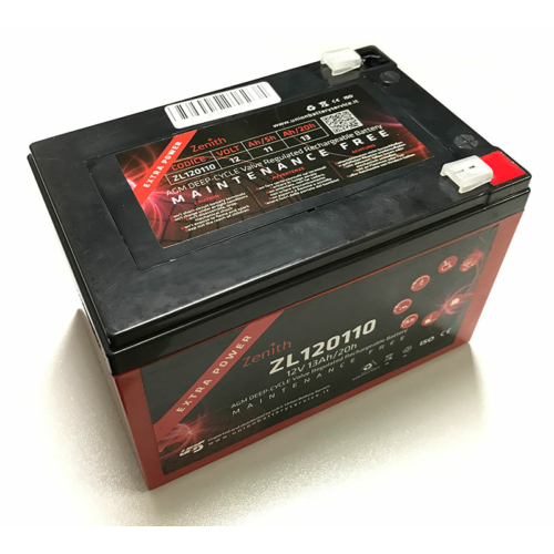 Zenith ZL120110 12V C20/13Ah F2 AGM Deep-Cycle akkumulátor