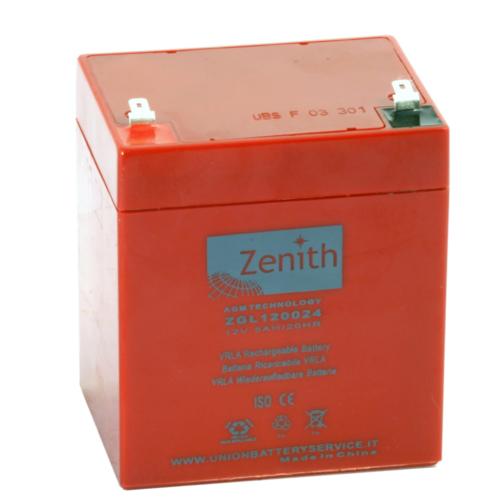 Zenith ZGL120024 12V C20/5Ah C5/4,45 F1 AGM akkumulátor