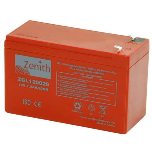 Zenith ZGL120026 12V C20/7,2Ah C5/6,12 F1 AGM akkumulátor