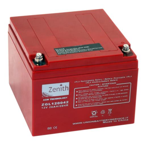 Zenith ZGL120042 12V C20/26Ah C5/24 M5 AGM akkumulátor