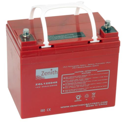 Zenith ZGL120048 12V C20/35Ah C5/29,8 M6 AGM akkumulátor